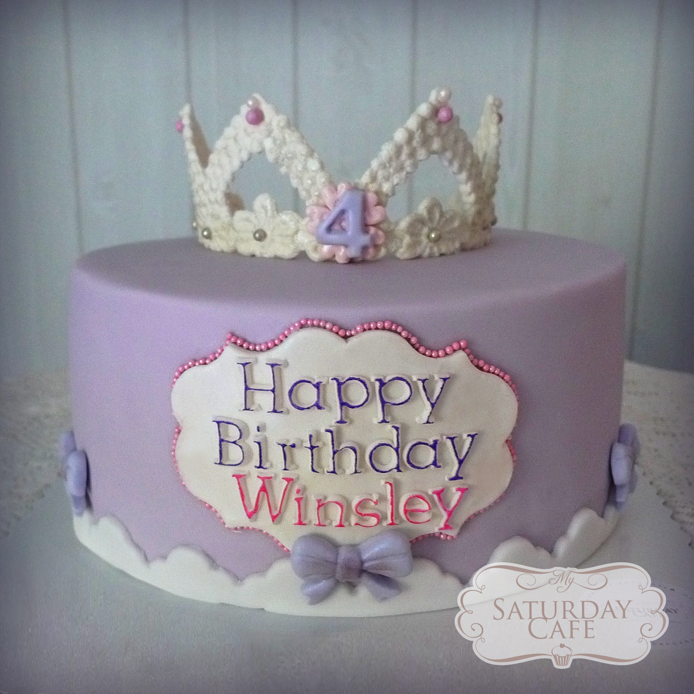 Violet Princess Tiara Birthday Cake My Saturday Cafe